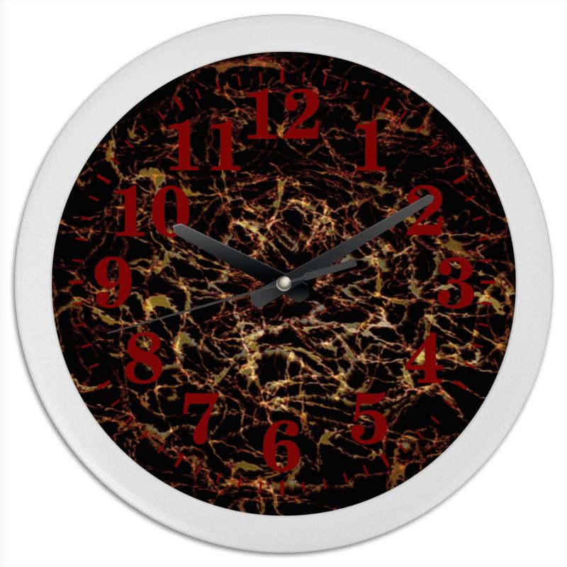 Часы круглые из пластика Printio Волны. психоделика часы круглые из пластика printio волны