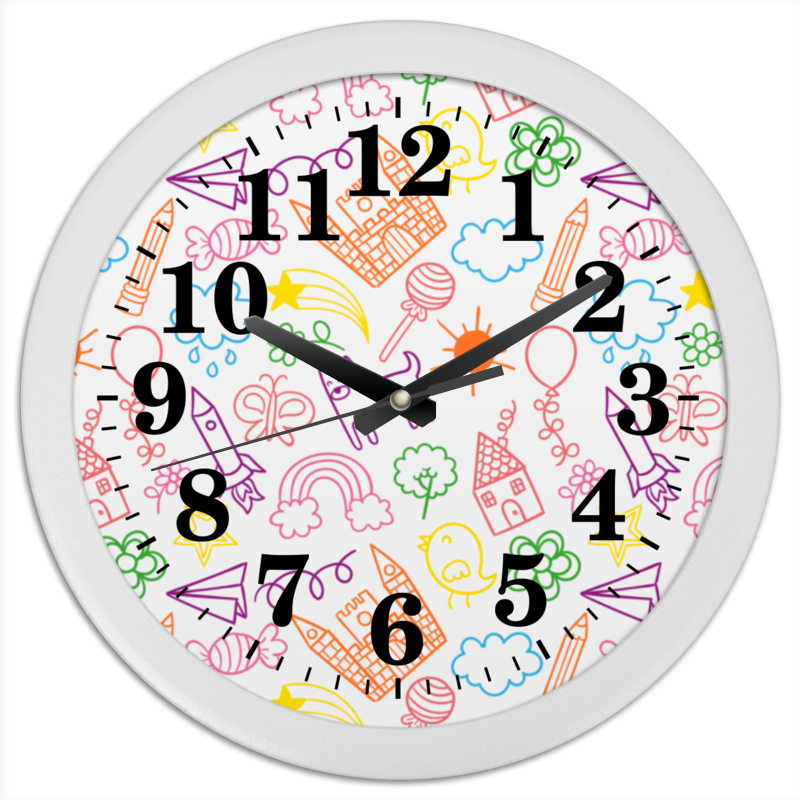 Часы круглые из пластика Printio Детские