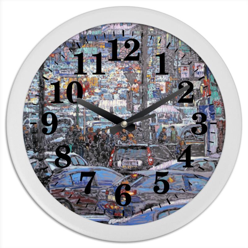 Часы круглые из пластика Printio Охотный ряд часы круглые из пластика printio новый год 2017