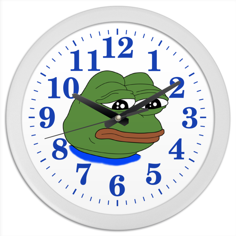 Часы круглые из пластика Printio Pepe frog часы круглые из пластика printio мишень