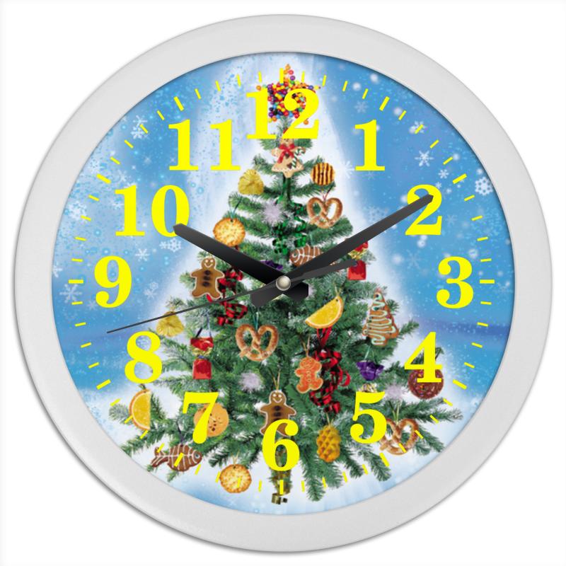 Часы круглые из пластика Printio Новогодняя елка (2) набор конфет pergale dark розы ассорти 382г