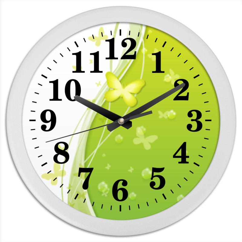 Часы круглые из пластика Printio Летний мотив