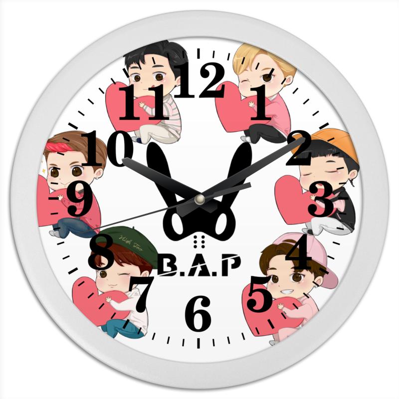 Часы круглые из пластика Printio B.a.p бан жвiрба бан жвiрба забабоны