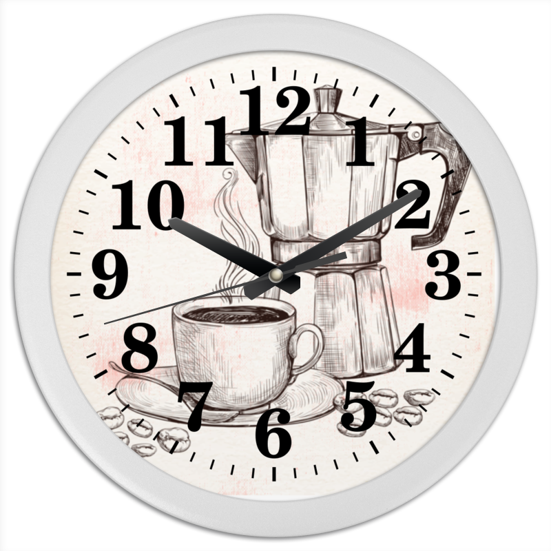Часы круглые из пластика Printio Кофейник е yami сифон кофейник три поколения штрафа кофе е 1315 5d 5 частей