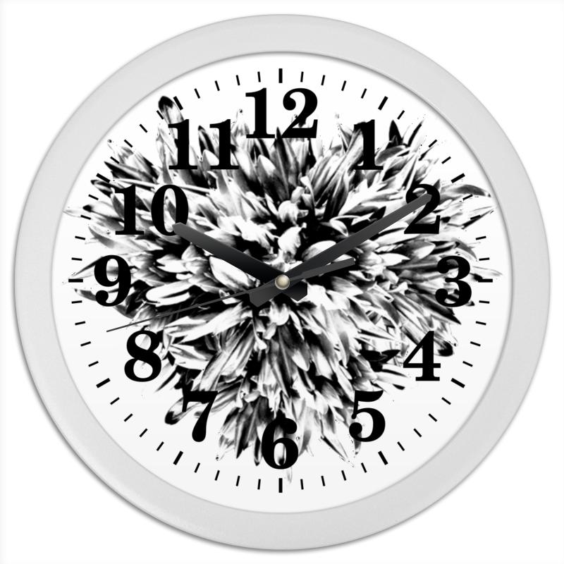 Часы круглые из пластика Printio Черно-белая