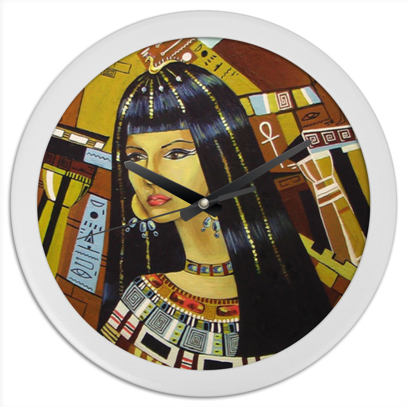 Часы круглые из пластика Printio Клеопатра