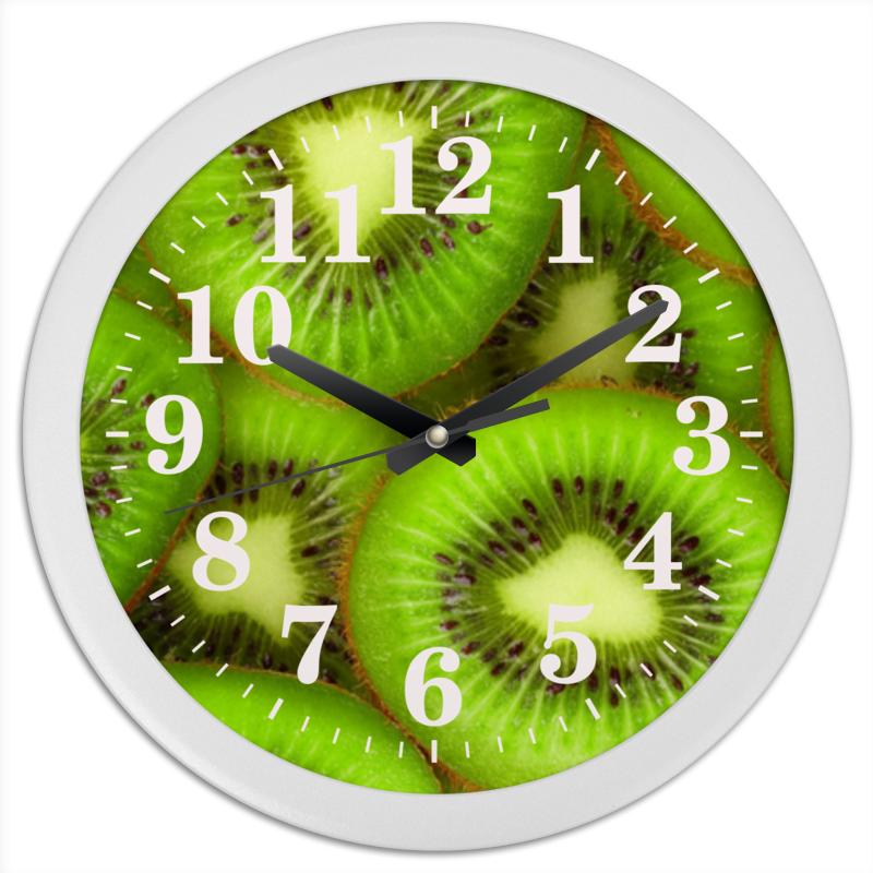 Часы круглые из пластика Printio Киви - это наслаждение