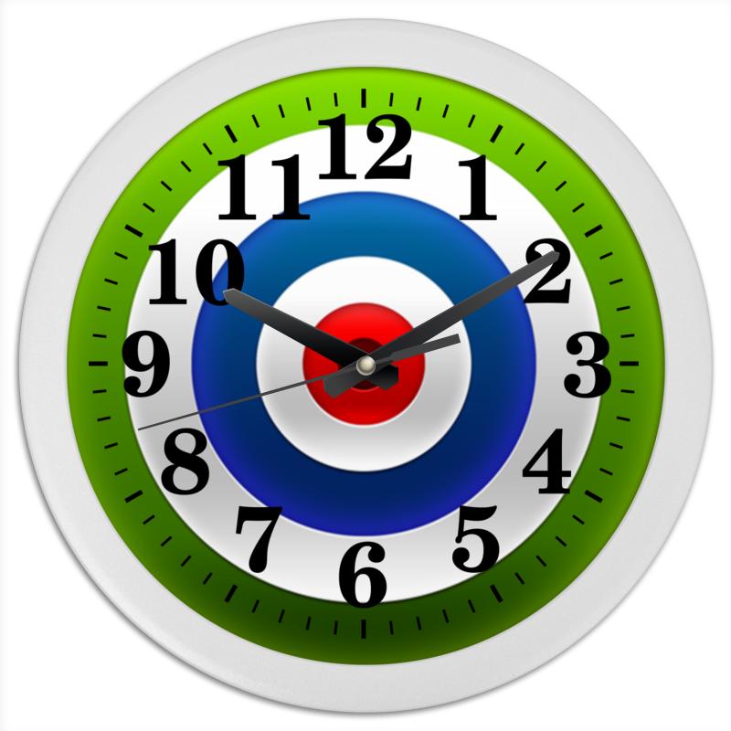 Часы круглые из пластика Printio Мишень