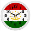 "Часы круглые из пластика ""Флаг Таджикистана"" - арт, флаг таджикистана"