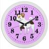 """Часы круглые из пластика """"ДЖЕК РАССЕЛ.СОБАКА"""" - майкл джексон, щенок, собака, животное, рассел"""