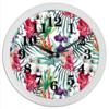"""Часы круглые из пластика """"Тропические цветы"""" - милый, лето, пальма, орхидея, женственно"""