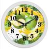 """Часы круглые из пластика """"Яблоки"""" - фрукты, рисунок, яблоки"""