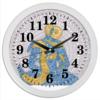 "Часы круглые из пластика ""Час Бога"" - йога, ом, медитация, индийский, мехенди"