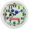 "Часы круглые из пластика ""MONOPOLY"" - игра, деньги, хобби, азарт, монополия"