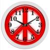 """Часы круглые из пластика """"Пацифика"""" - мир, хиппи, пацыфика"""