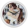 """Часы круглые из пластика """"За туалетом. Автопортрет (Зинаида Серебрякова)"""" - картина, живопись, серебрякова"""