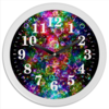 """Часы круглые из пластика """"Психоделика"""" - психоделика, пузырьки, цвет, абстракция"""