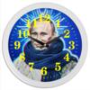 "Часы круглые из пластика ""Владимир Путин"" - владимир, путин, putin, владимир путин"