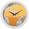 """Часы круглые из пластика """"Земной шар."""" - планета, космос, земля, глобус"""