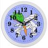 """Часы круглые из пластика """"Зайчишки с морковкой"""" - любовь, подарок, морковка, влюбленность, зайчишки"""
