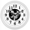 "Часы круглые из пластика ""Дракон"" - дракон, рисунок, графика, фэнтэзи"