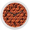 """Часы круглые из пластика """"Дикая малина"""" - красный, ягоды, малина, сладкий, аромат"""