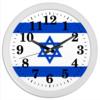"""Часы круглые из пластика """"Земля Обетованная - Израиль!"""" - патриотизм, звезда давида, израиль флаг"""