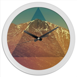 """Часы круглые из пластика """"TreugOI"""" - арт, треугольник, triangle, pyramid"""
