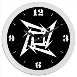 "Часы круглые из пластика ""«Логотип Metallica»"" - metallica, metallica logo, логотип металлика, логотип metallica"