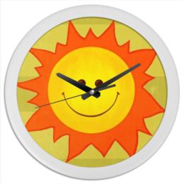 """Часы круглые из пластика """"Пусть всегда буду я!"""" - арт, лето, summer, солнце, огонь, sun, bright"""