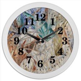 "Часы круглые из пластика ""Стекло (картина Михаила Ларионова)"" - картина, живопись, авангард, ларионов"