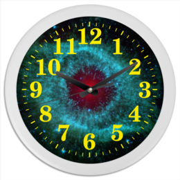 "Часы круглые из пластика ""Вселенная"" - space, космос, вселенная, наука, the spaceway"