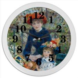 "Часы круглые из пластика ""Две сестры (На террасе) (Пьер Огюст Ренуар)"" - картина, ренуар"