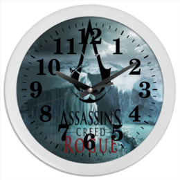 """Часы круглые из пластика """"Assassins """" - часы ассасинс"""