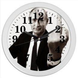 """Часы круглые из пластика """"Путин"""" - путин, putin"""