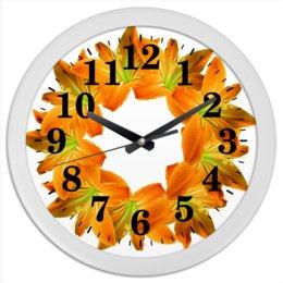 """Часы круглые из пластика """"Заряд энергии"""" - цветы, часы, букет, декор, венок"""
