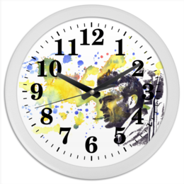 "Часы круглые из пластика ""James Dean Джеймс Дин"" - james dean, джеймс дин, бунтарь, ретро, rebel"