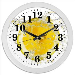 """Часы круглые из пластика """"лимоны"""" - n-a-v"""