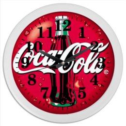 "Часы круглые из пластика ""Кока кола"" - арт, стиль, рисунок, 2019"