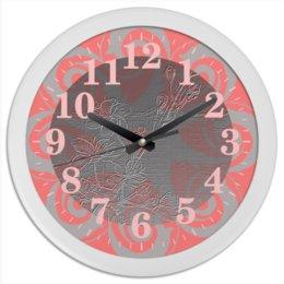 """Часы круглые из пластика """"Сакура."""" - цветы, розовый, япония, сакура, ветка сакуры"""