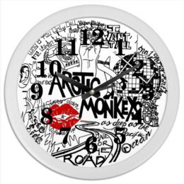 "Часы круглые из пластика ""arctic monkeys"" - rock, indie, arctic monkeys, арктик манкис"