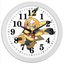 "Часы круглые из пластика ""pokemontime"" - pokemon, pokemongo, pokemontime"