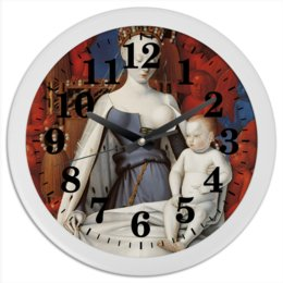 """Часы круглые из пластика """"Дева Мария (Маленский диптих)"""" - картина, живопись, христианство, фуке"""
