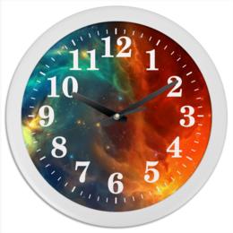 """Часы круглые из пластика """"Космическая туманность"""" - космос, фотография, звёзды, спутник, туманность"""