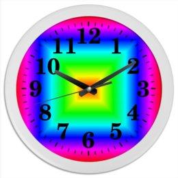 "Часы круглые из пластика ""Радуга"" - радуга, спектр"