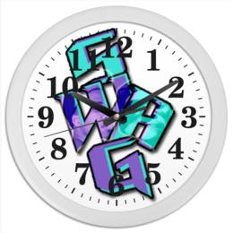 "Часы круглые из пластика ""   SWAG"" - swag, свэг, сваг, свег"