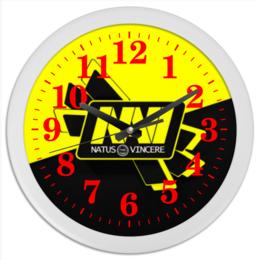 "Часы круглые из пластика ""NAVI CS GO"" - cs, counter strike, navi, go, cs go"