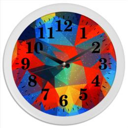 """Часы круглые из пластика """"Абстракция"""" - узор, стиль, рисунок, абстракция, абстрактный"""