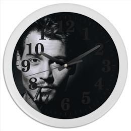 """Часы круглые из пластика """"Johnny Depp"""" - оригинально"""