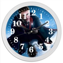 "Часы круглые из пластика ""Гарри Поттер"" - сказка, гарри поттер, магия, метла, хогвардс"